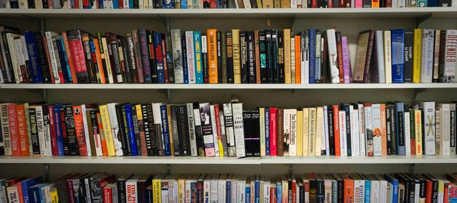Jane Dailey's office library contains multitudinous volumes, most of which are focused on her area of research, post-emancipation race, politics, and law.